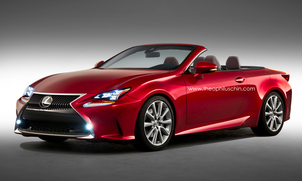 how a possible lexus rc convertible will look - gtspirit