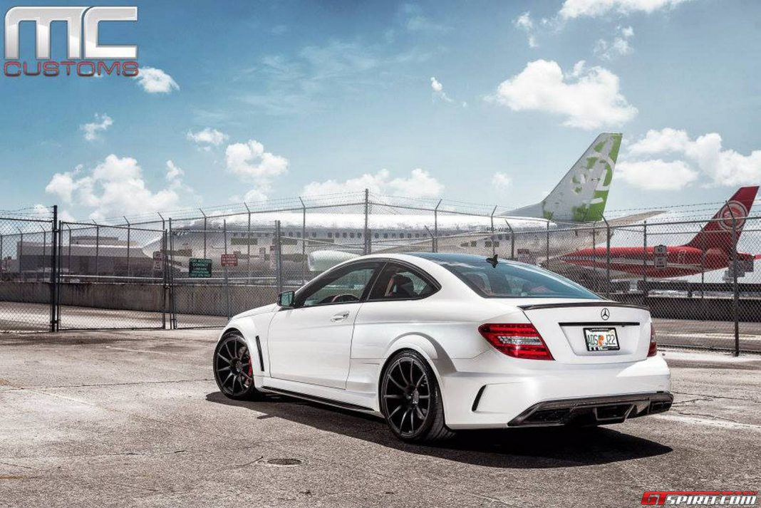Mercedes benz c63 amg black series by mc customs gtspirit for C63 mercedes benz amg
