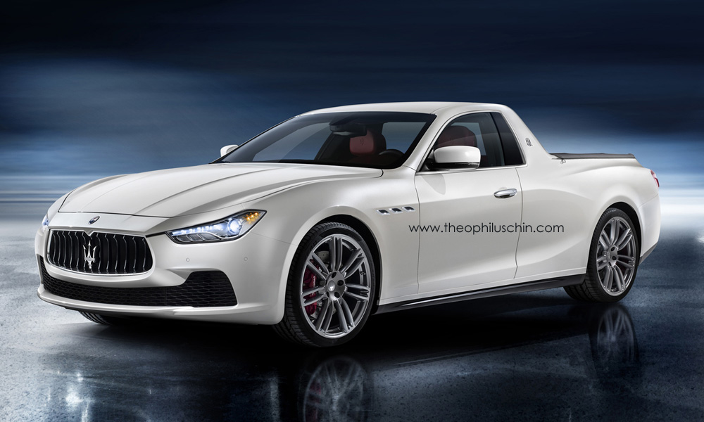 Maserati Ghibli Pickup Is As Bad As You'd Expect