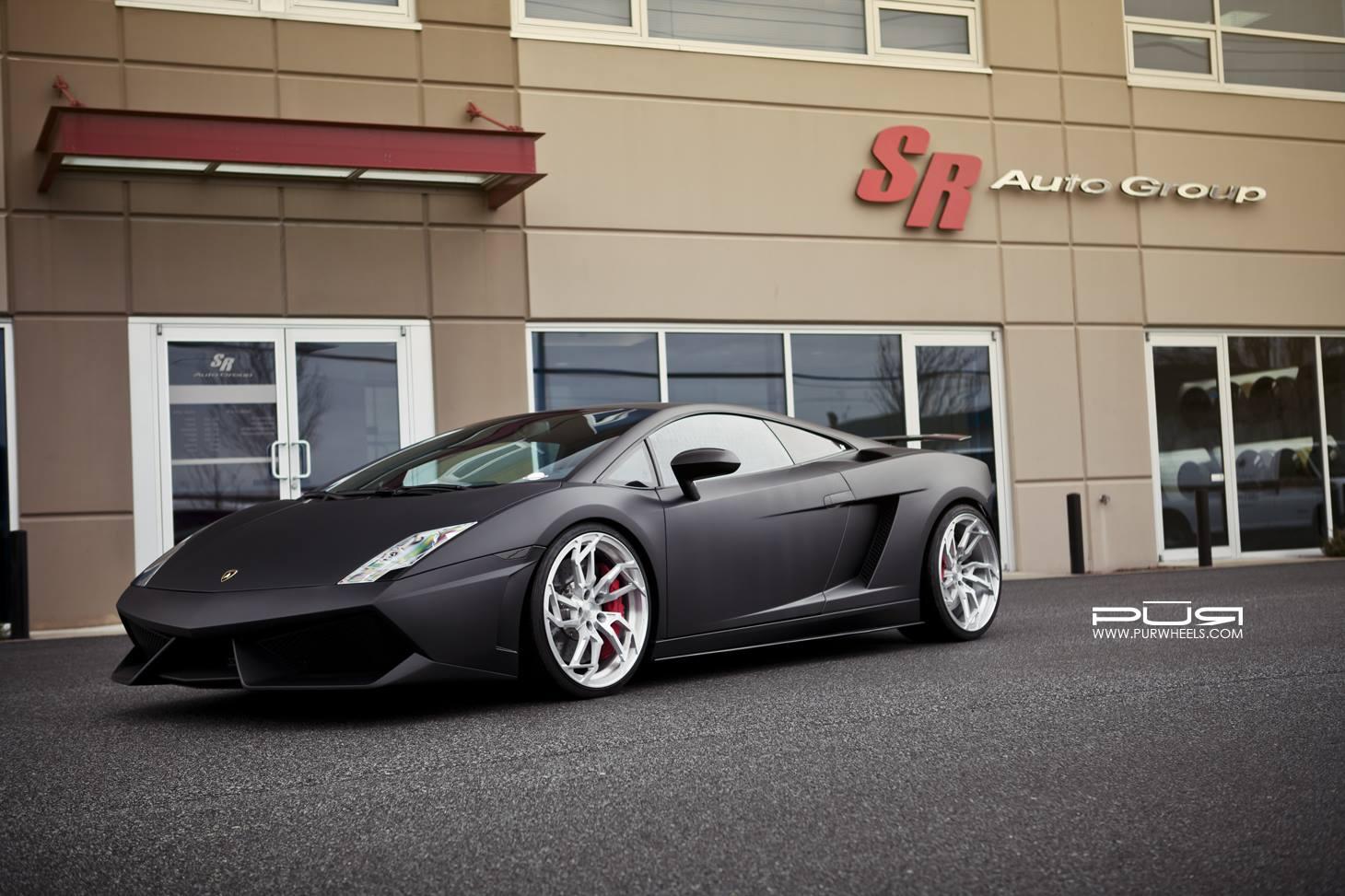Matte Black Lamborghini Gallardo Lp560 4 On Egoista Inspired Pur