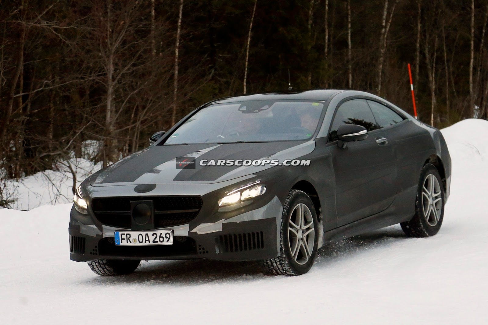 2015 mercedes benz s class coupe tests in the cold gtspirit for 2015 mercedes benz s class coupe