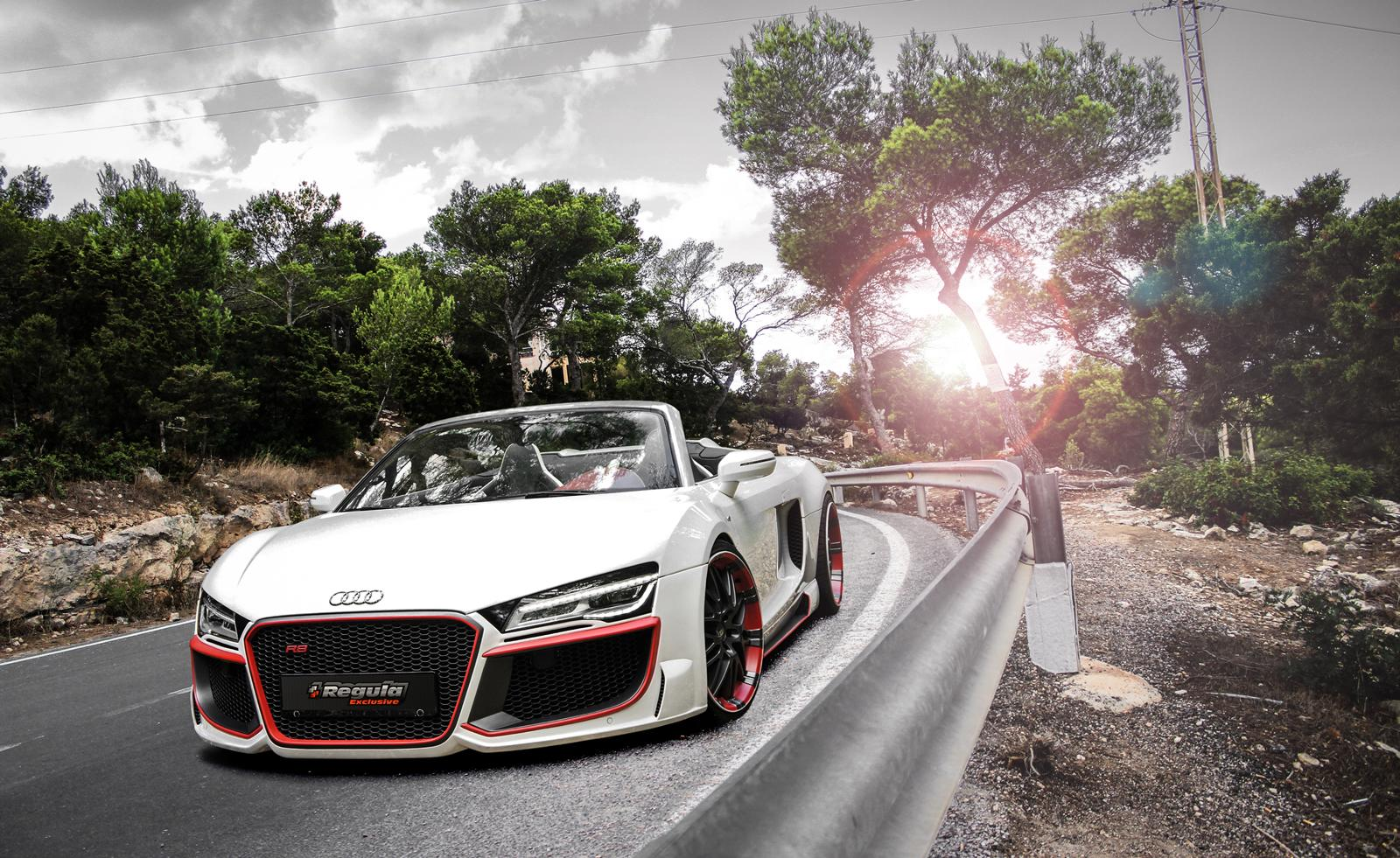 Audi audi r8 spyder v10 : Official: Audi R8 V10 Spyder by REGULA Tuning - GTspirit