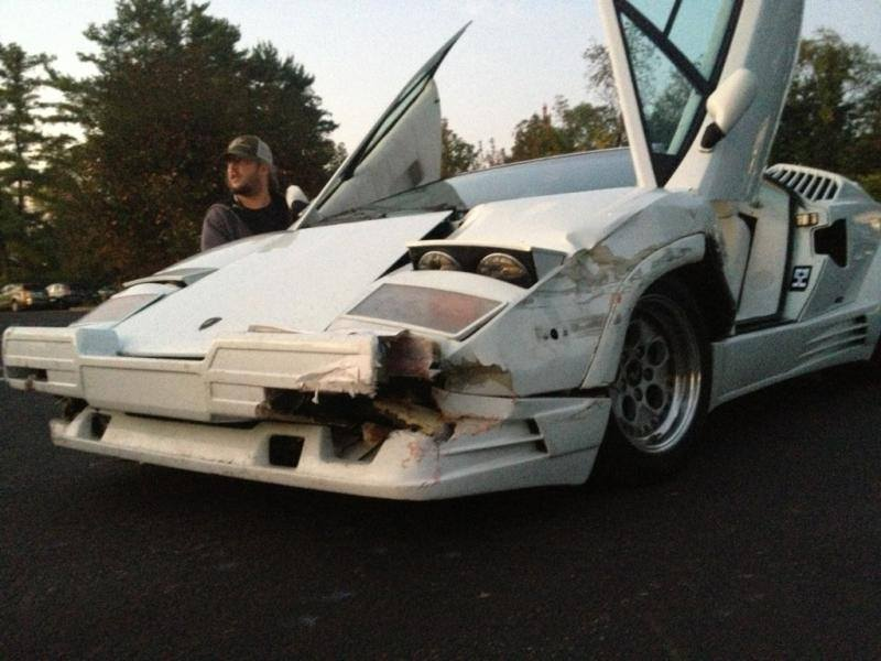 Real 25th Anniversary Lamborghini Countach Destroyed in the Movie