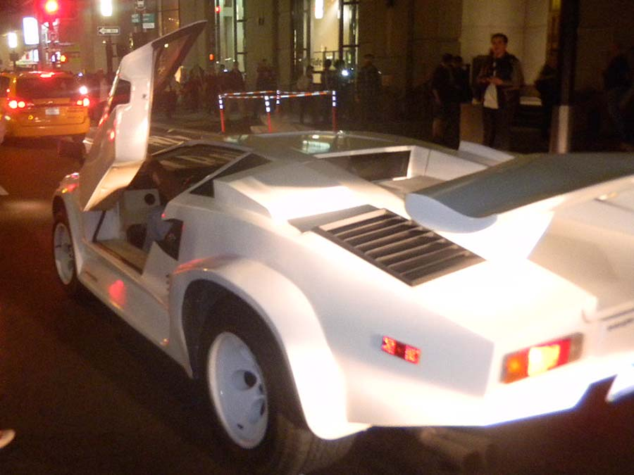 Real 25th Anniversary Lamborghini Countach Destroyed In The Wolf Of