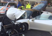 20-Year-Old Destroys Ferrari 458 Italia in Switzerland