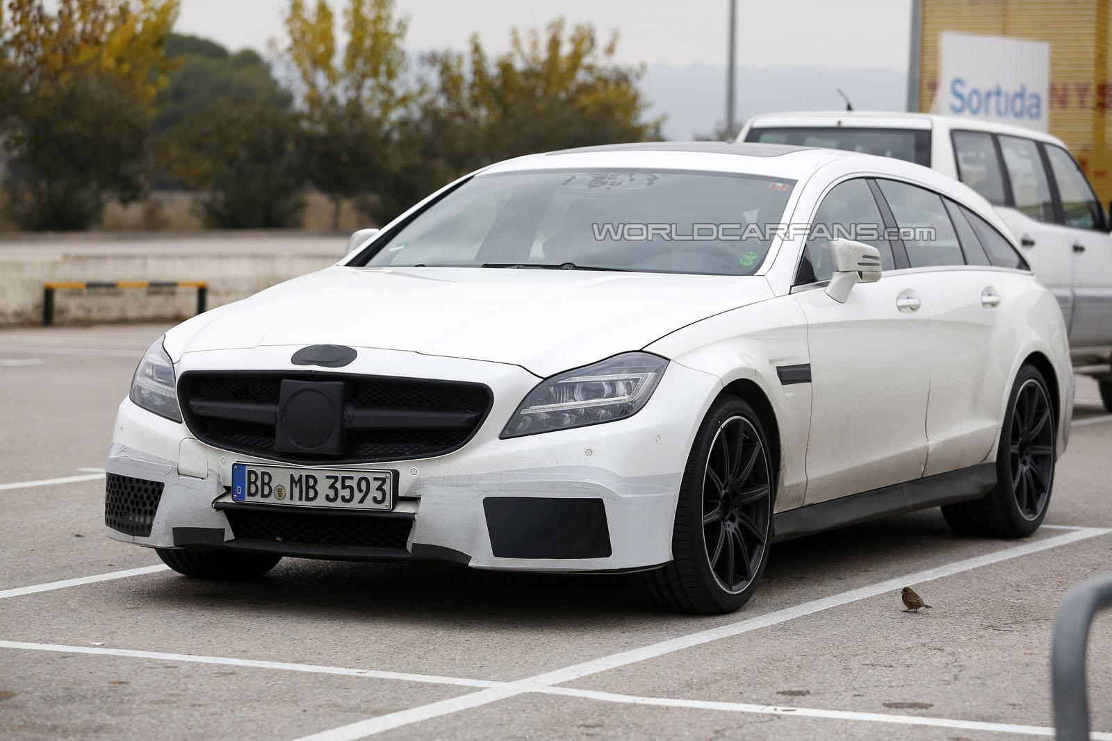 facelifted mercedes benz cls 63 amg shooting brake spied. Black Bedroom Furniture Sets. Home Design Ideas