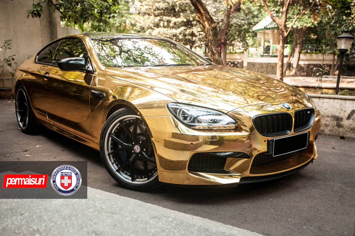 Golden Chrome Bmw M6 On Hre Wheels Gtspirit