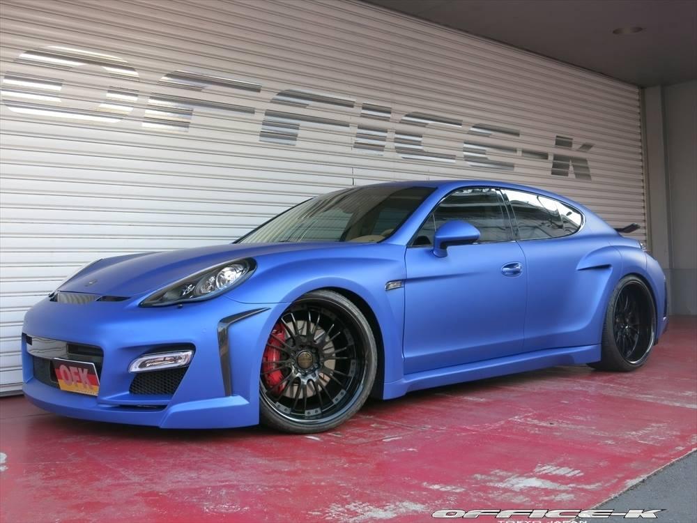 Matte Blue FAB Design Porsche Panamera By Office K