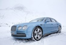 Photo of the Day Sky Blue Bentley Continental Flying Spur in St. Moritz