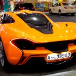Orange McLaren P1 Spotted Filling Up in Dubai