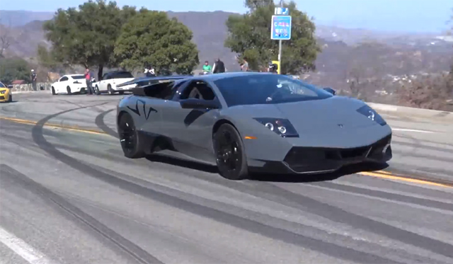 Launching A Lamborghini Murcielago Sv On Mulholland Gtspirit