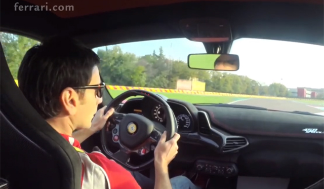 Onboard the Ferrari 458 Speciale at Fiorano