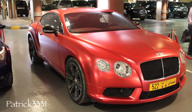 Bentley Continental GT Receives Satin Red Wrap