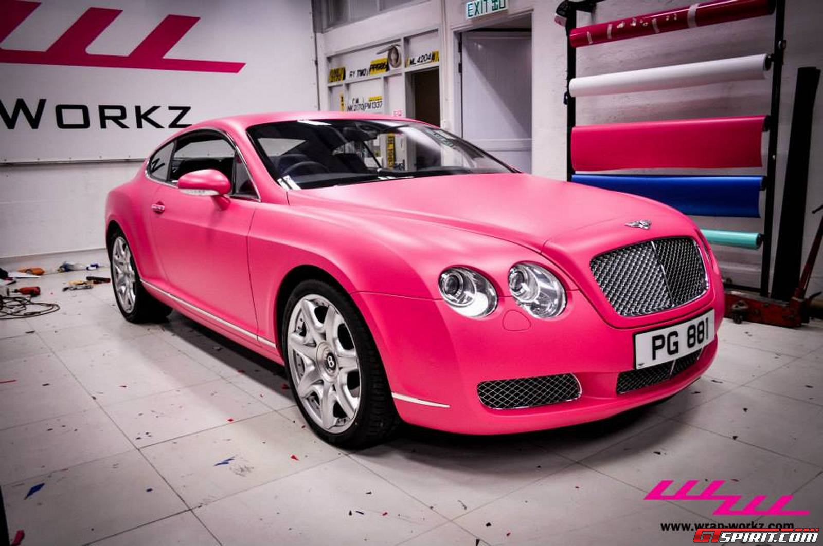Storage For Cars >> Matte Pink Bentley Continental GT by Wrap Workz Hong Kong - GTspirit