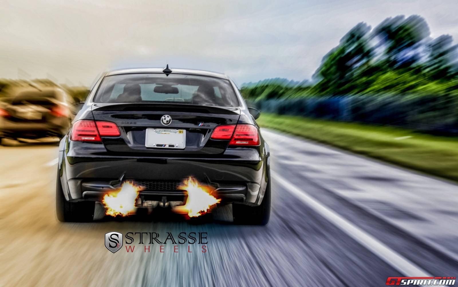 Jerez Black Bmw M3 Lowered On Sm7 Strasse Wheels Gtspirit