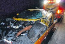 Gumpert Apollo Crash in Germany
