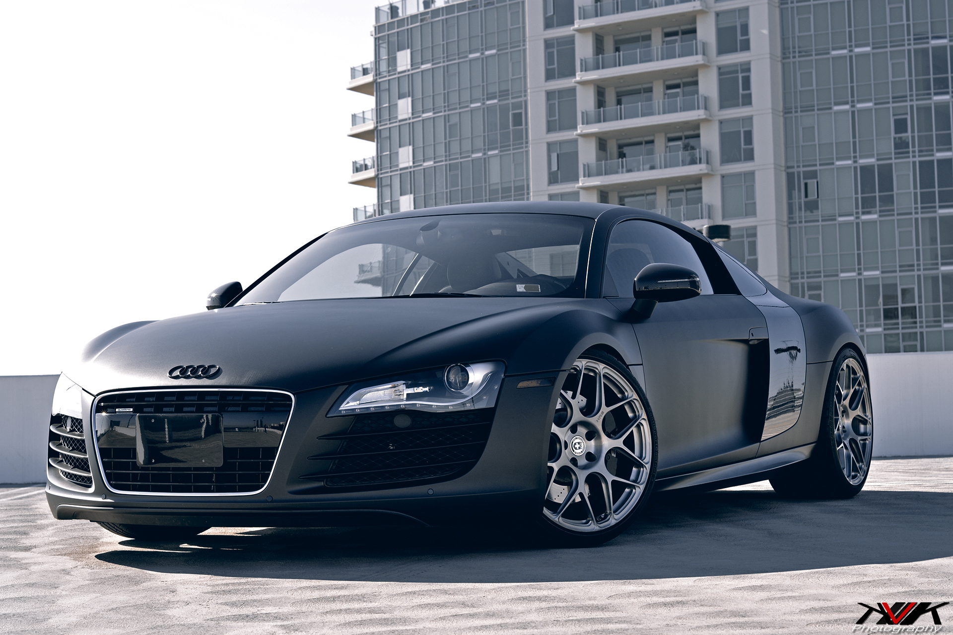 Matte Black Audi R On HRE PSCs By KVK Photography GTspirit - Audi r8 black