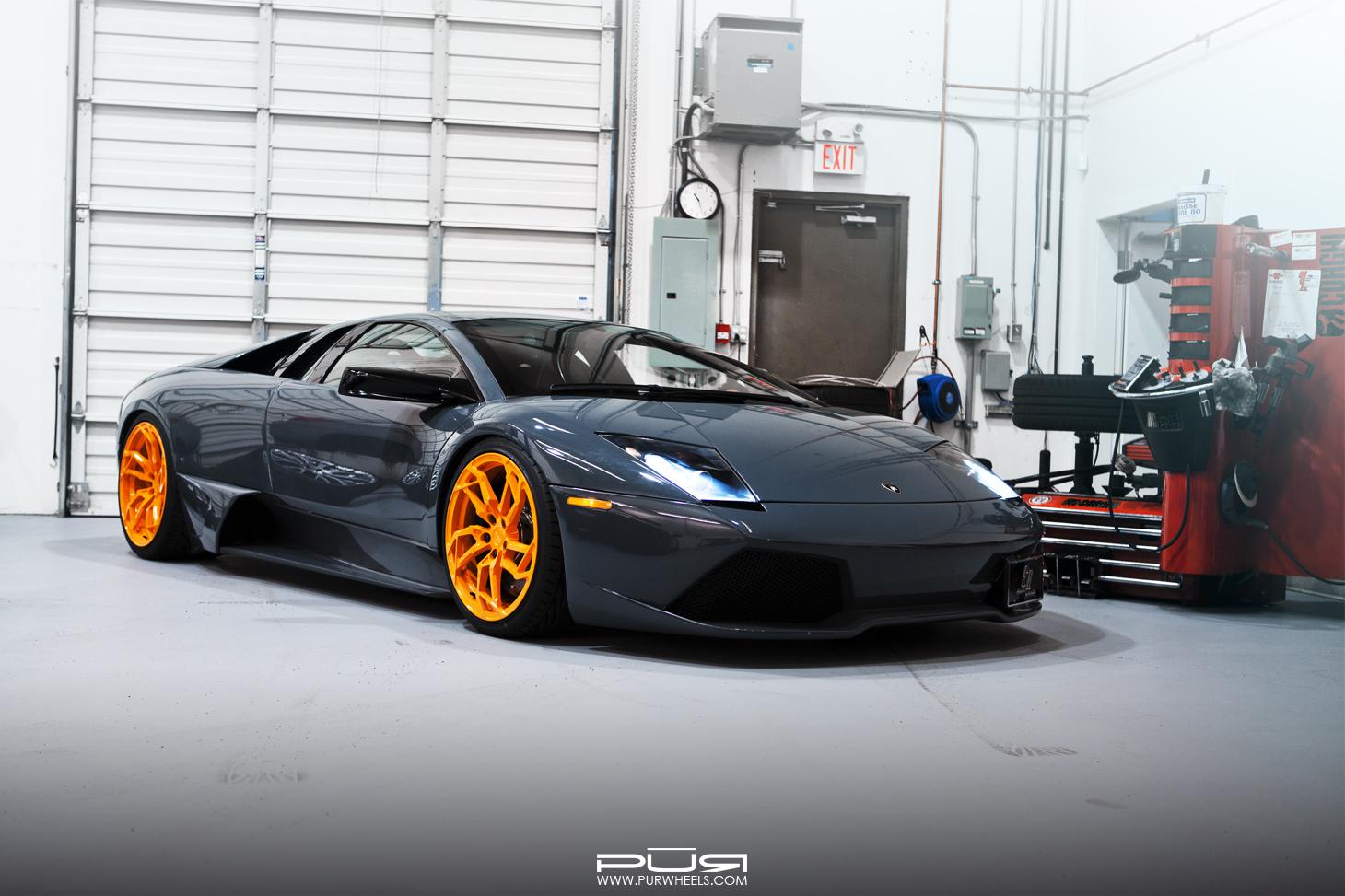 Stunning Lamborghini Murcielago LP640 on Orange PUR Wheels - GTspirit