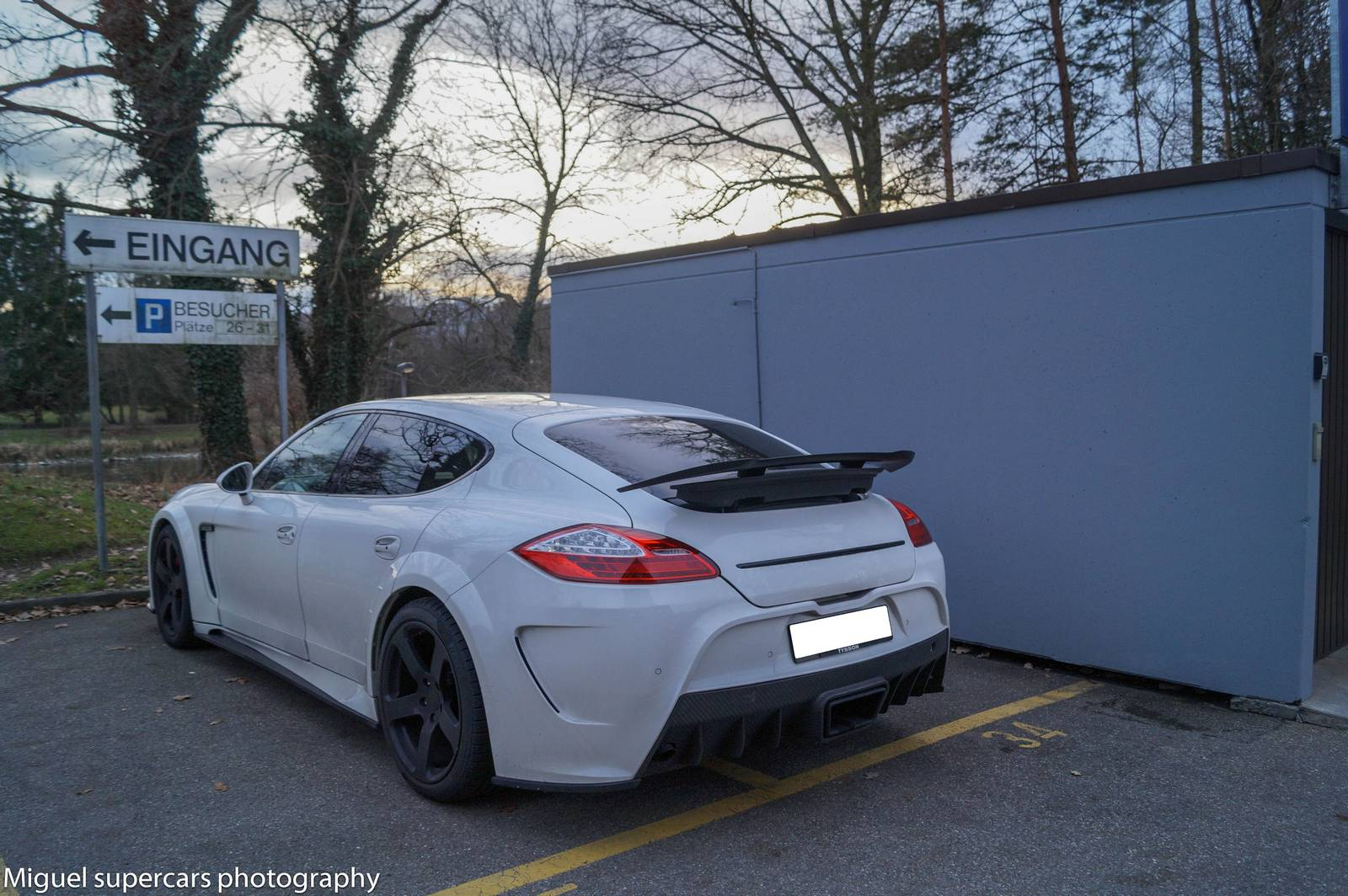 White Mansory Panamera C One Spotted