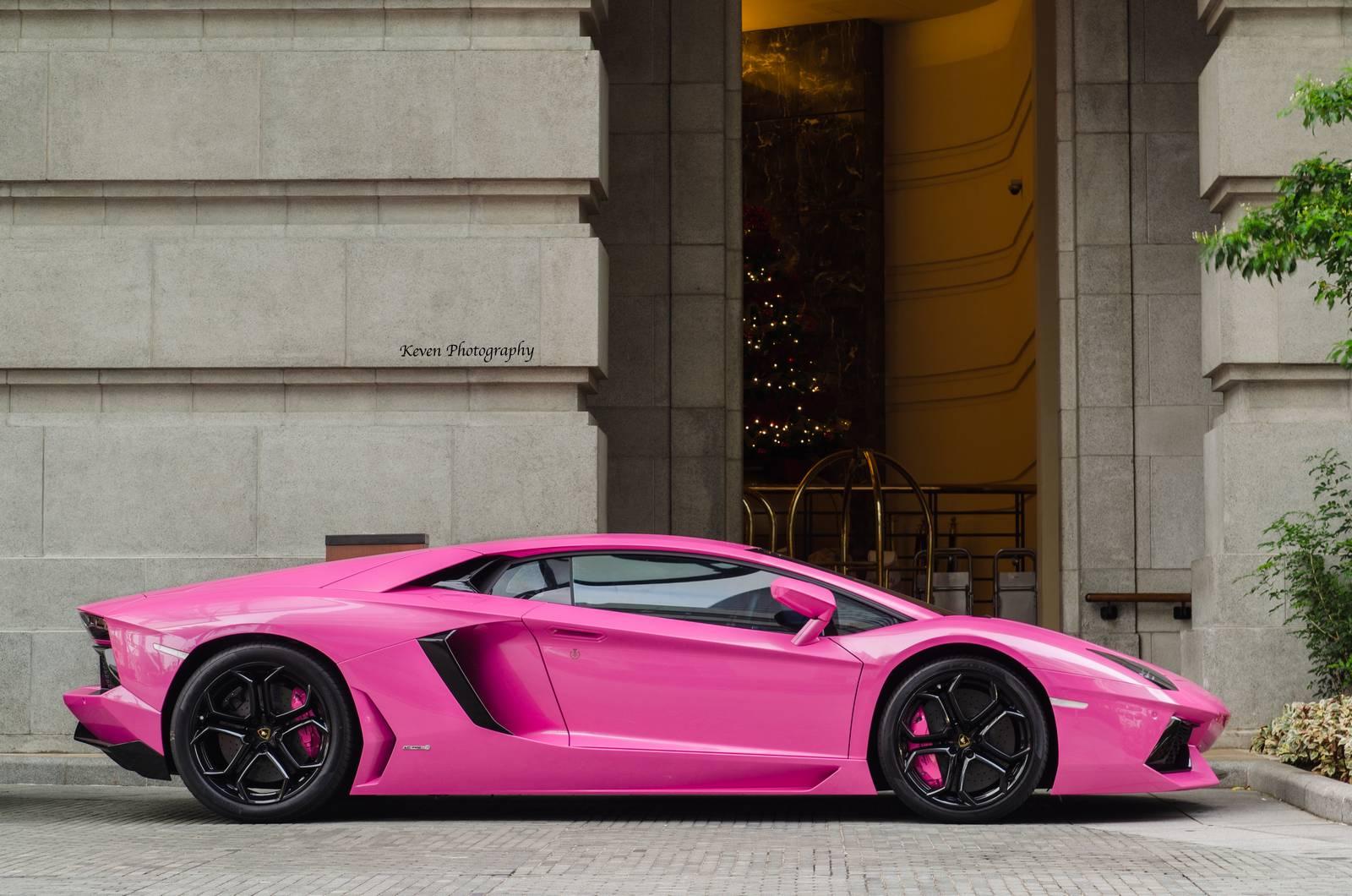 lamborghini aventador finished in bright pink   gtspirit