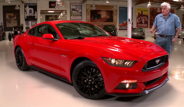 Jay Leno Celebrates 50 Years of Mustang With 2015 GT