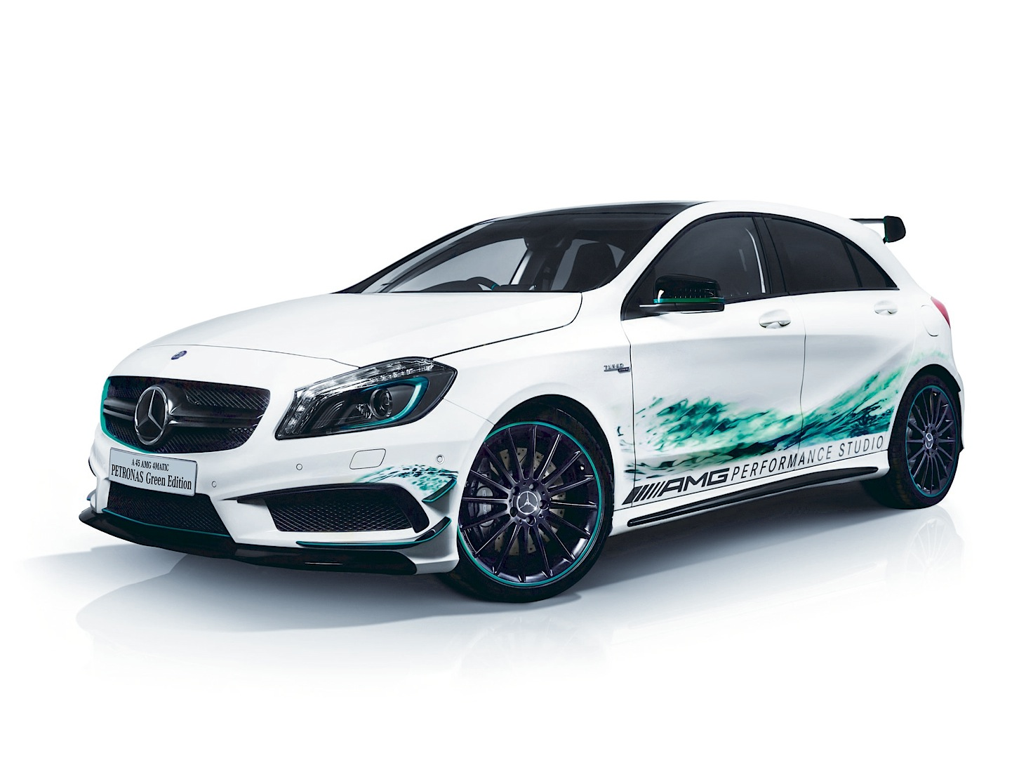 official mercedes benz a 45 amg petronas green edition gtspirit. Black Bedroom Furniture Sets. Home Design Ideas