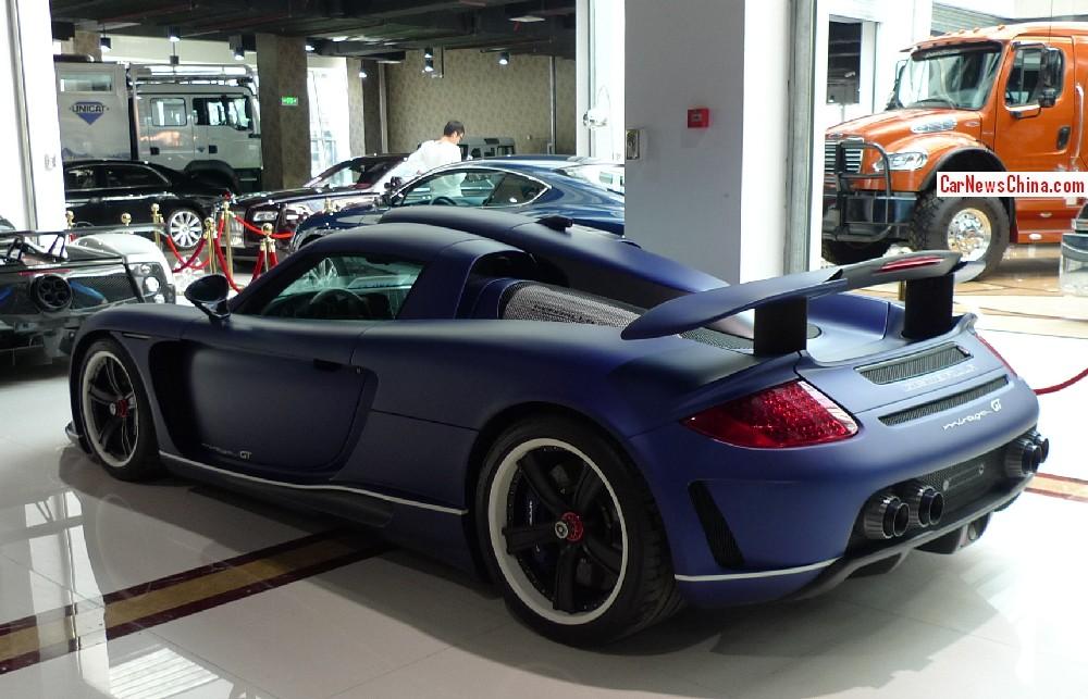 Gemballa Mirage GT Matte Blue Edition For Sale in China - GTspirit