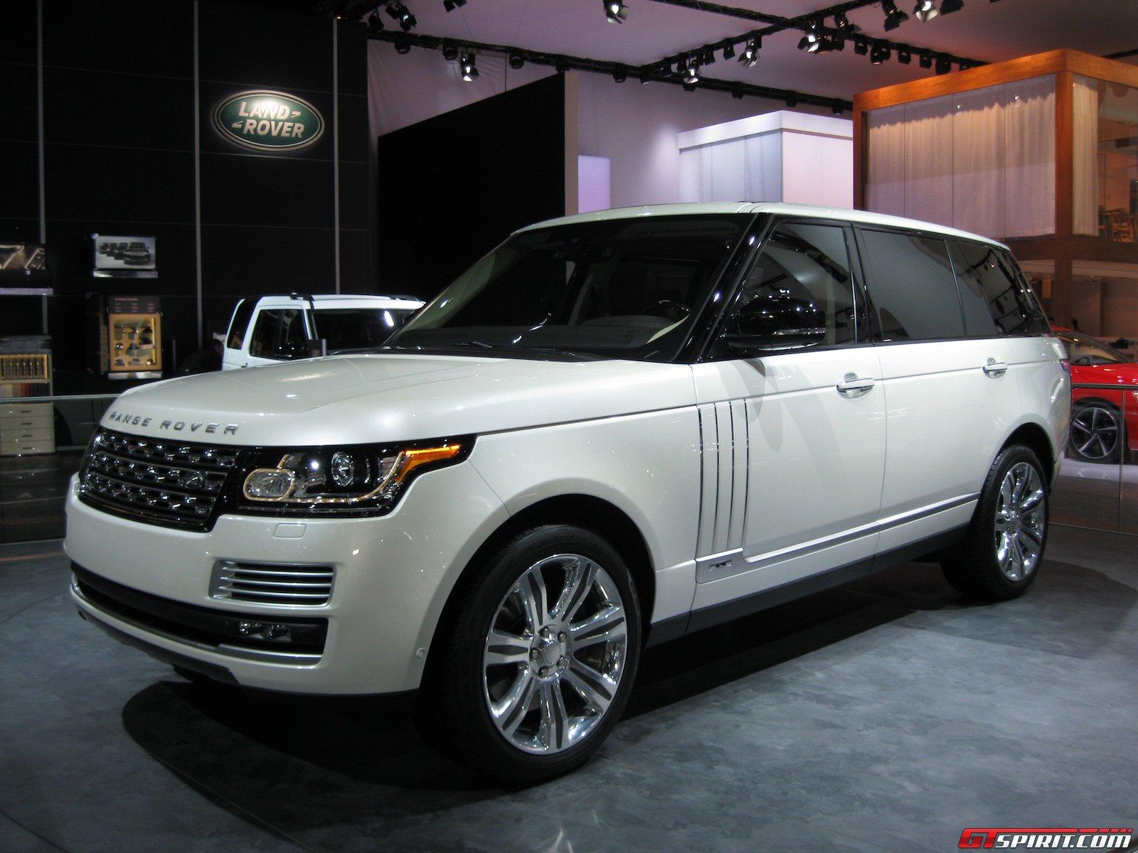 detroit 2014 range rover long wheelbase gtspirit. Black Bedroom Furniture Sets. Home Design Ideas