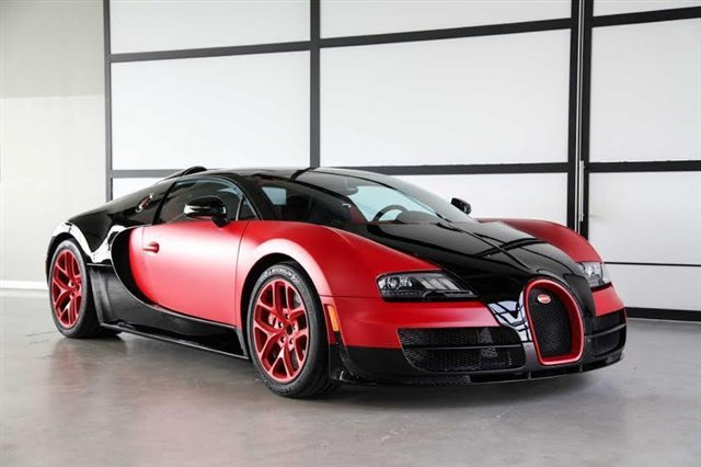 unique matte red bugatti veyron grand sport vitesse for sale in u s gtspirit. Black Bedroom Furniture Sets. Home Design Ideas