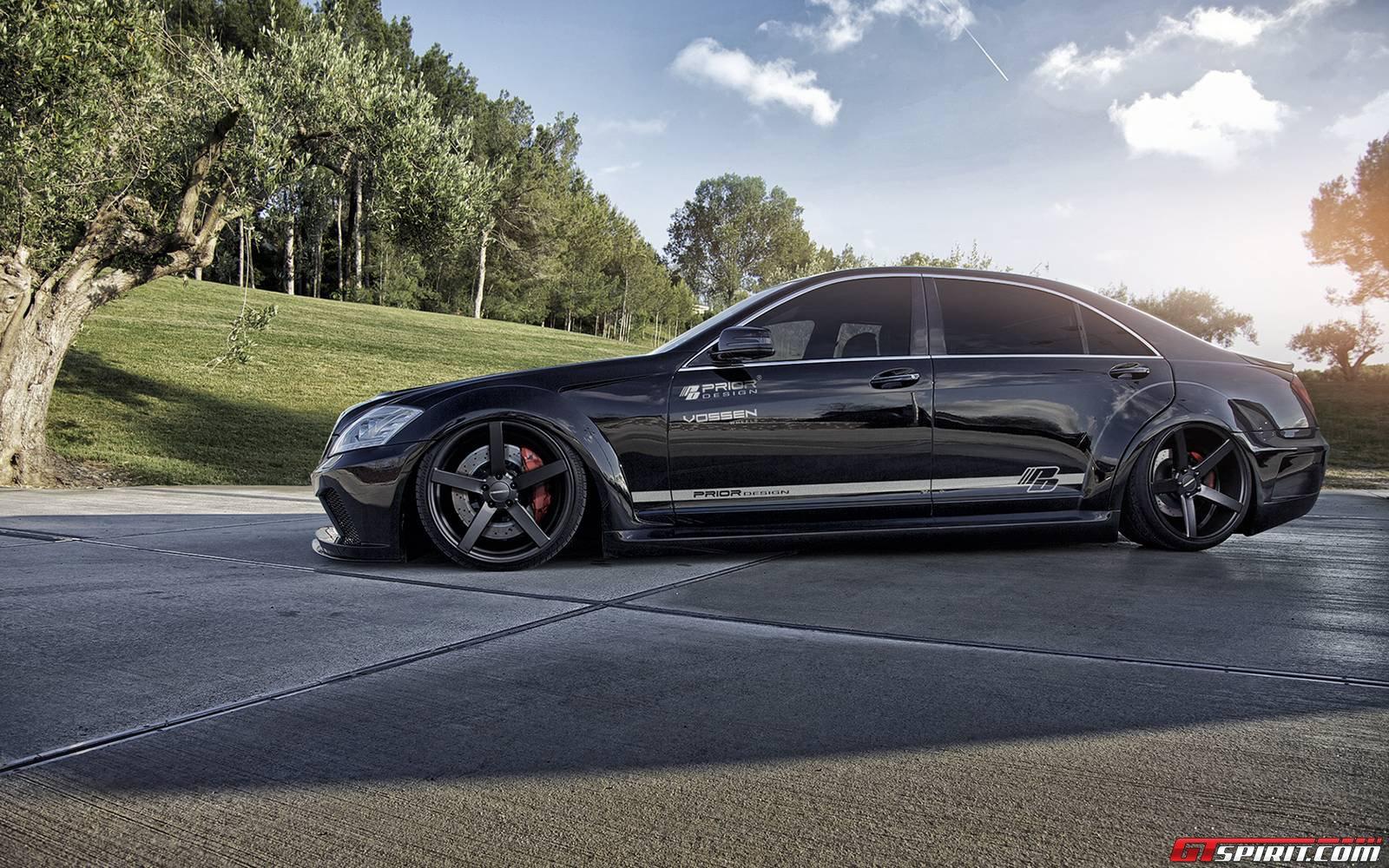 mercedes benz s class v2 widebody black edition by prior design supercar - Mercedes Benz 2014 S Class Black