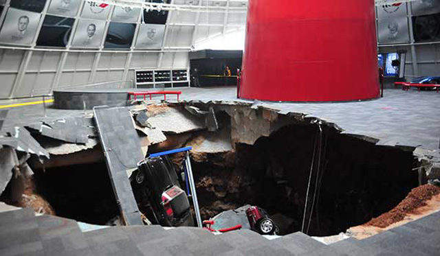 Damaged Corvettes From Sinkhole to be Diplayed