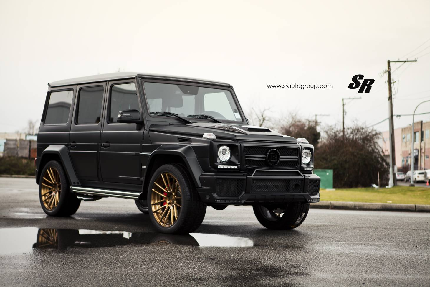 Matt black brabus widestar g class by sr auto gtspirit for Mercedes benz g class brabus