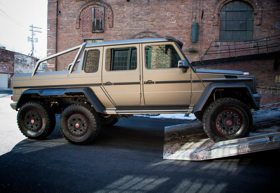 Mercedes benz g 63 amg 6x6 arrives in the us gtspirit for How much is a mercedes benz g63