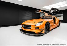 Orange Mercedes-Benz SLS AMG GT3