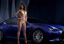 Lexus RC F Commercial Featuring Stunning Sports Illustrated Model