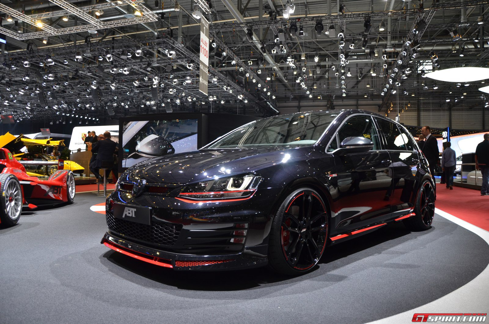 geneva 2014 abt golf vii gti dark edition gtspirit. Black Bedroom Furniture Sets. Home Design Ideas