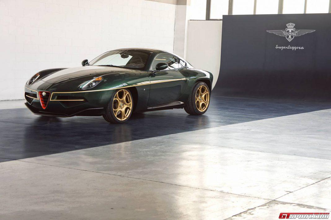 Green Alfa Romeo Disco Volante