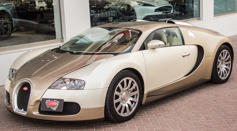 unique light gold bugatti veyron for sale gtspirit