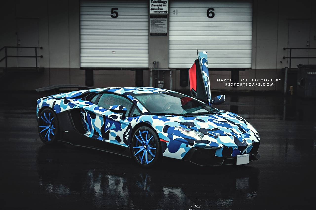 Final Photoshoot Of Arctic Camo Lamborghini Aventador