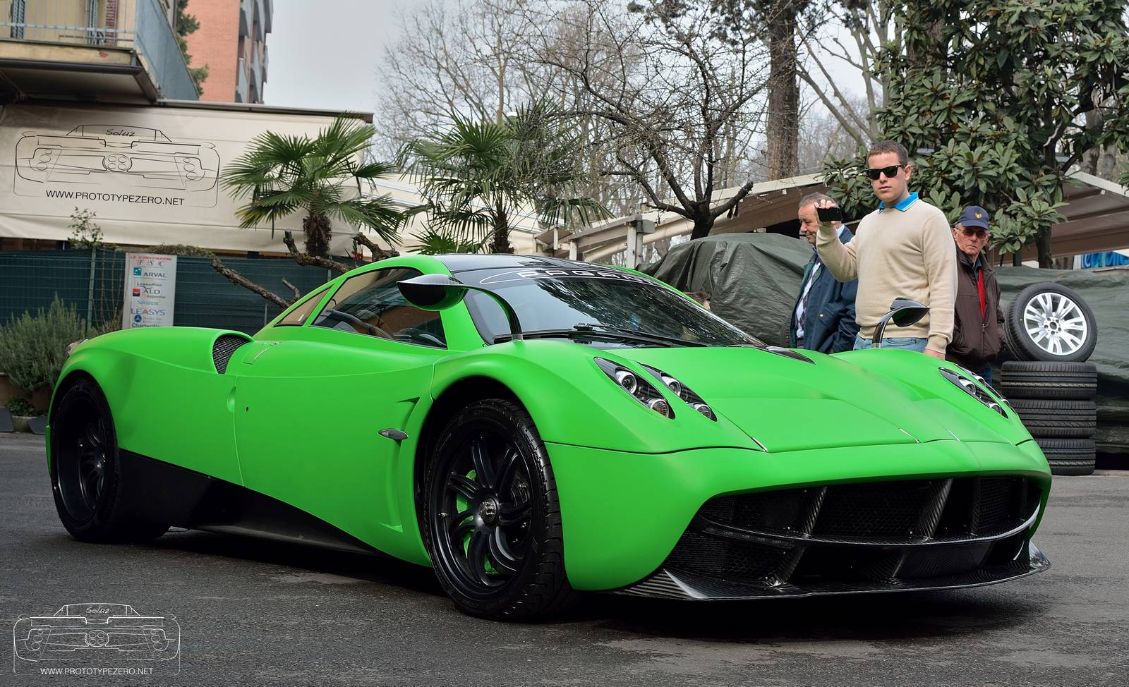 Lime Green Pagani Huayra Spotted in Modena - GTspirit