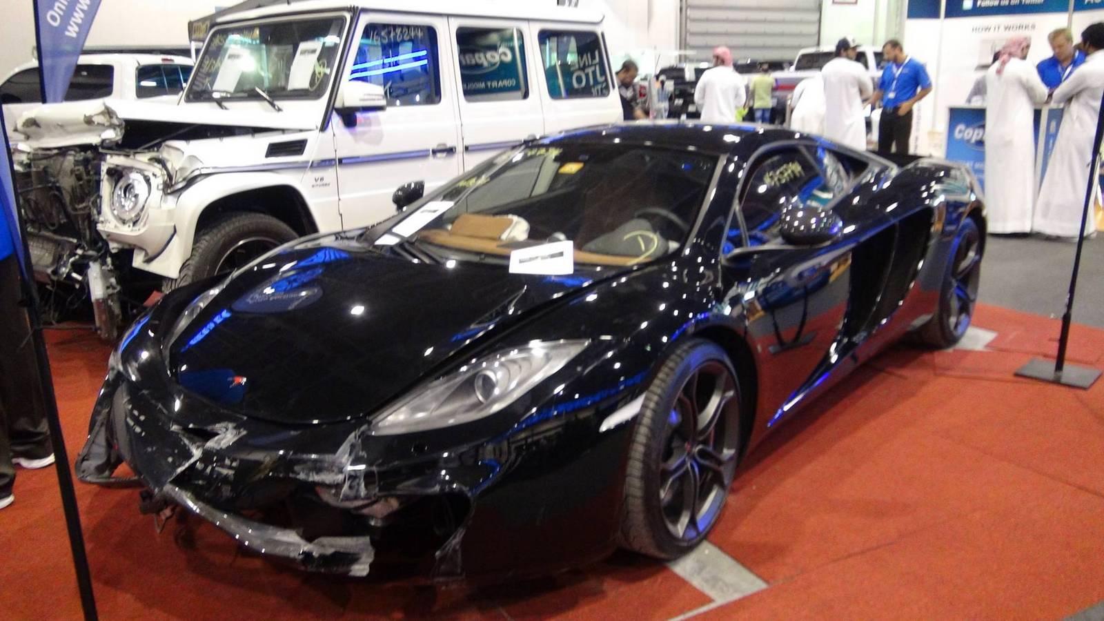 Wrecked McLaren 12C Up for Sale - GTspirit