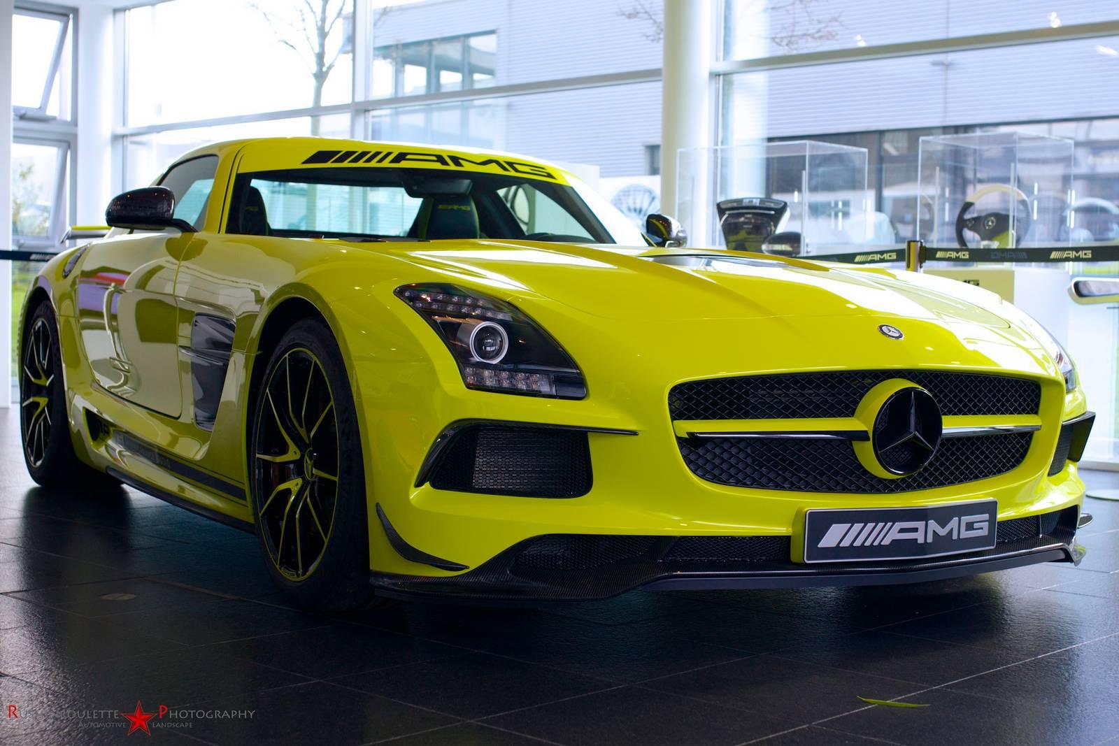 Neon yellow mercedes benz sls amg black series gtspirit for New paint car