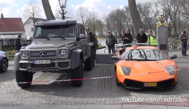 lamborghini murcielago sv vs mercedes 6x6 amg size comparison is shocking gtspirit. Black Bedroom Furniture Sets. Home Design Ideas