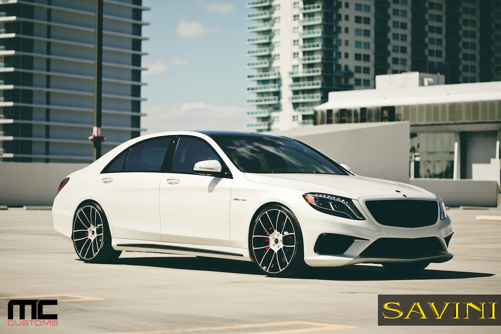 Brand new mercedes benz s63 amg receives savini wheels for Mercedes benz amg rims for sale