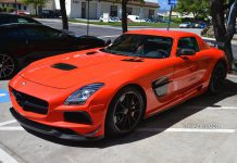 Photo of the Day: Cardinal Red Mercedes-Benz SLS AMG Black Series