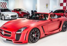 Insane Matte Red FAB Design Jetstream SLS AMG Roadster For Sale