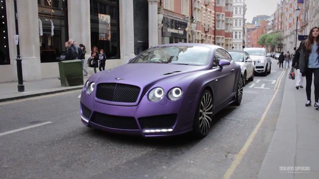 Video Matte Purple Mansory Bentley Continental Gt In London Gtspirit