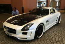 White Hamann Hawk Mercedes SLS AMG from Dubai