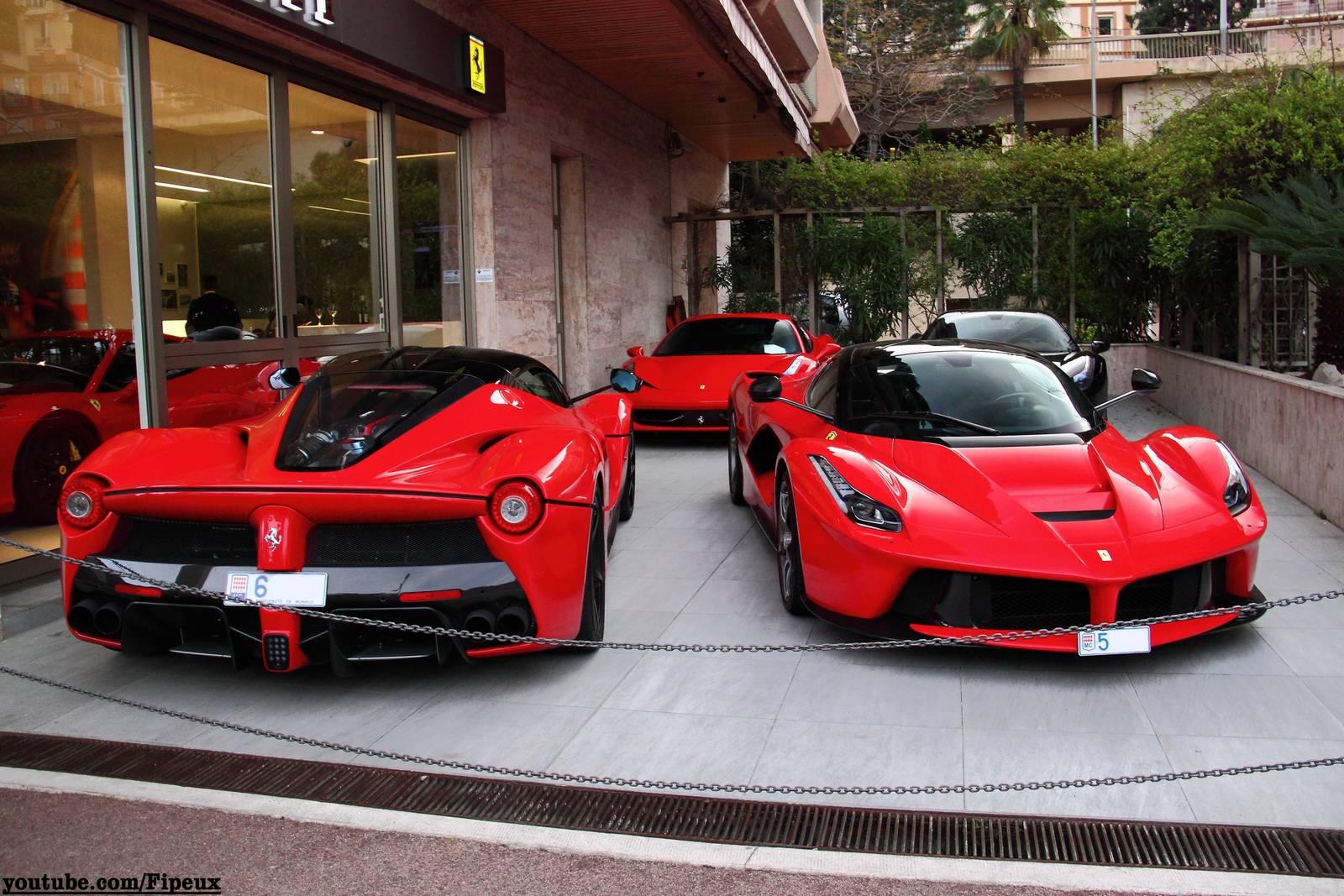 Video Two Red Laferrari S Driving In Monaco Gtspirit