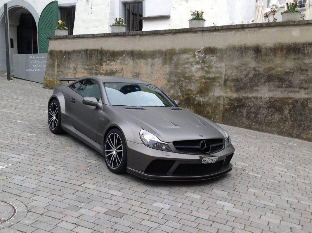 For sale stunning matt grey mercedes benz sl 65 amg black for Mercedes benz garages